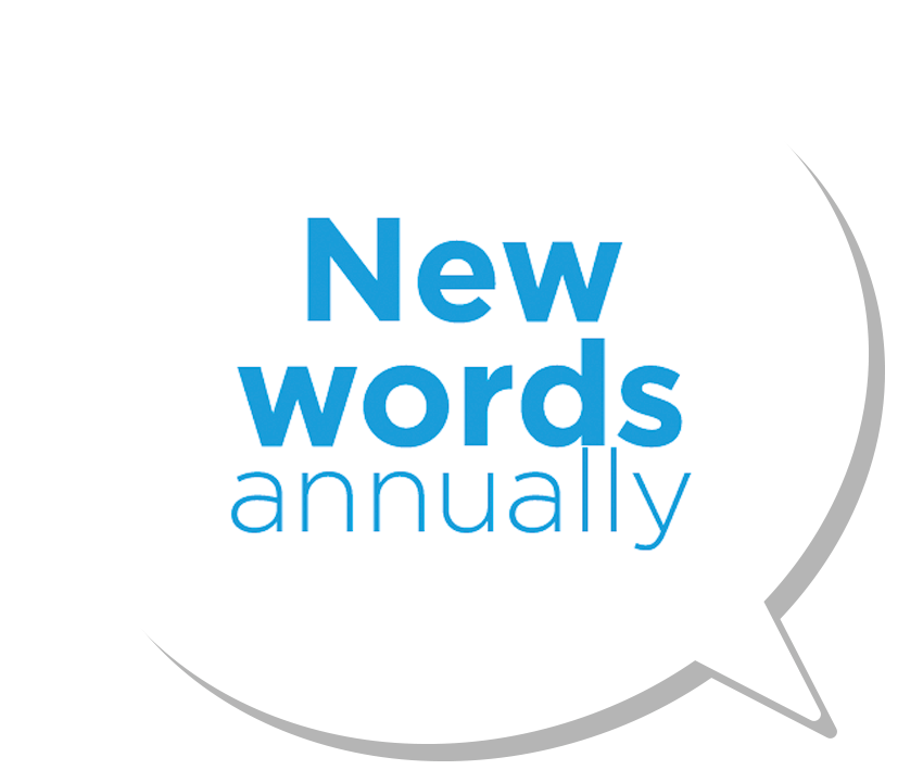 New words annually